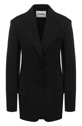 Женский шерстяной жакет JIL SANDER черного цвета, арт. JSPR130011-WR201000 | Фото 1