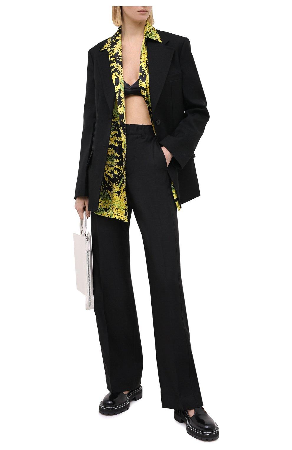 Женский шерстяной жакет JIL SANDER черного цвета, арт. JSPR130011-WR201000   Фото 3