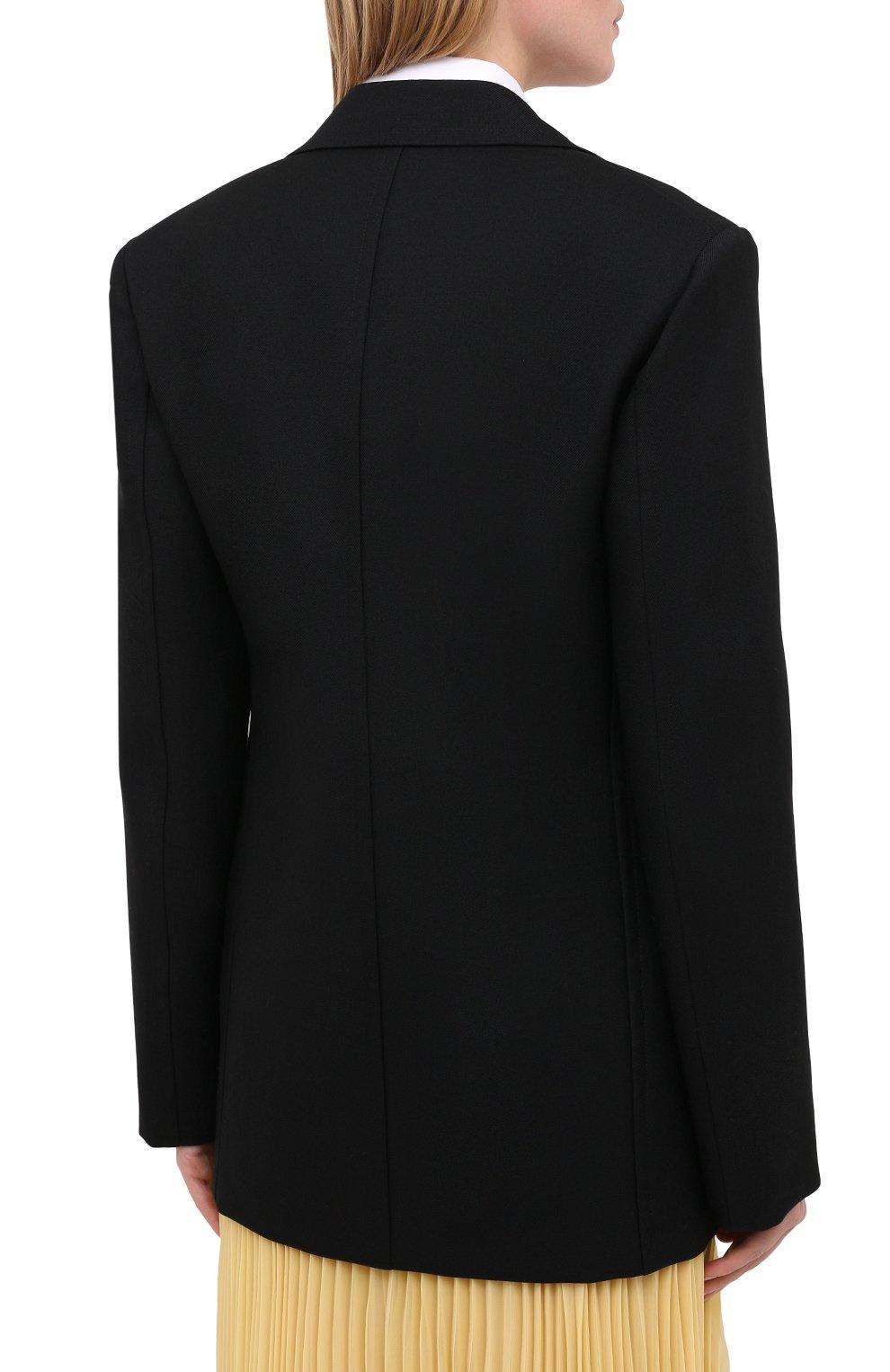 Женский шерстяной жакет JIL SANDER черного цвета, арт. JSPR130011-WR201000   Фото 5