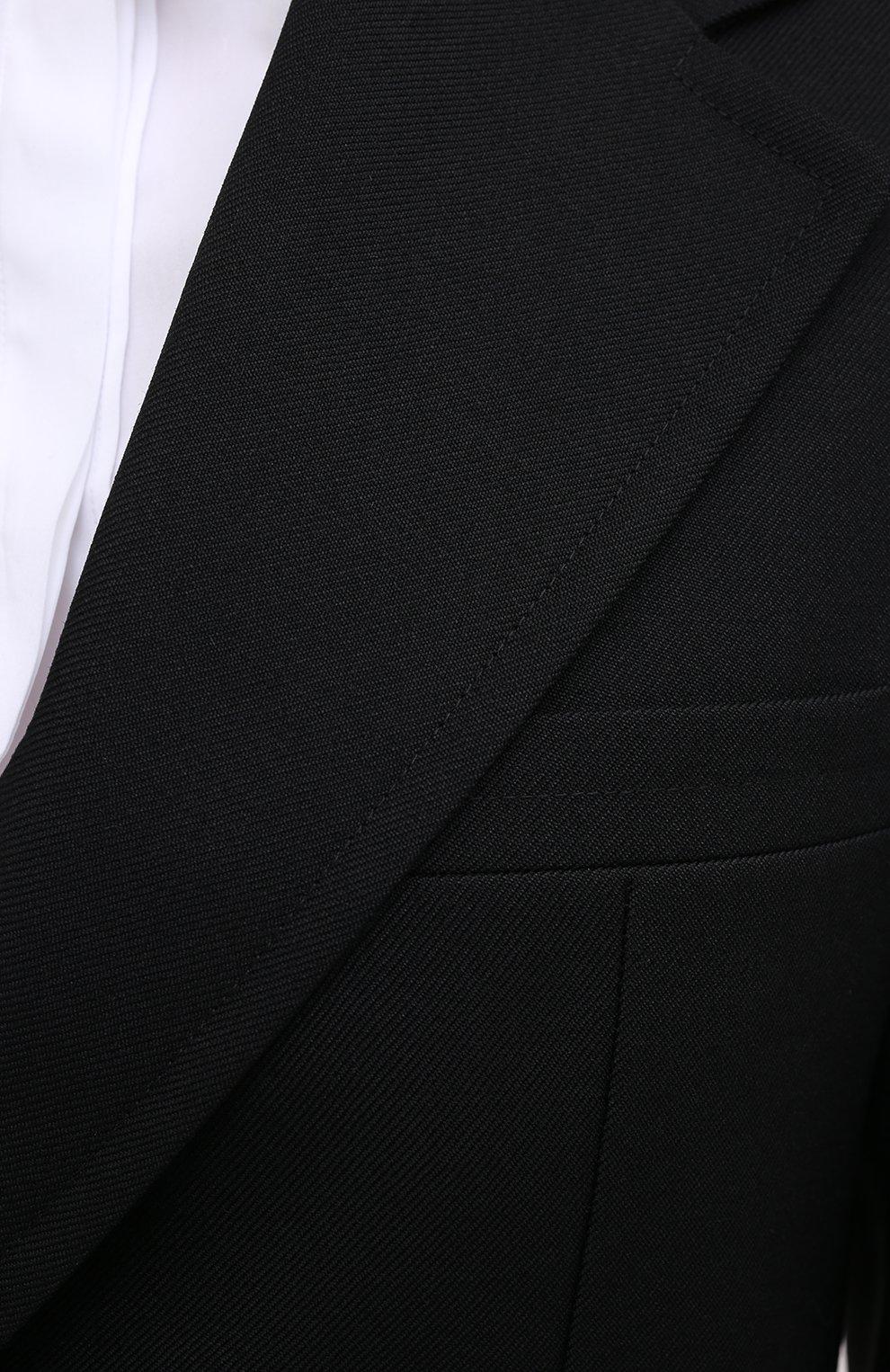 Женский шерстяной жакет JIL SANDER черного цвета, арт. JSPR130011-WR201000   Фото 6