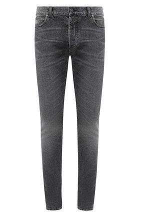 Мужские джинсы BALMAIN черного цвета, арт. UH15230/Z111 | Фото 1