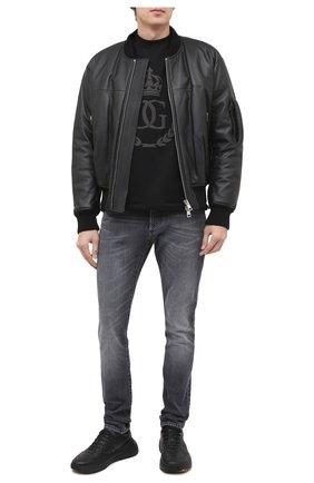 Мужские джинсы BALMAIN черного цвета, арт. UH15230/Z111 | Фото 2