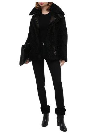 Женская дубленка TOM FORD черного цвета, арт. CSF621-FUX126 | Фото 2