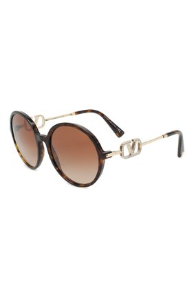 Женские солнцезащитные очки VALENTINO коричневого цвета, арт. 4075-500213 | Фото 1