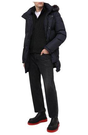 Мужская пуховик YVES SALOMON темно-синего цвета, арт. 21WHM02697A31G | Фото 2