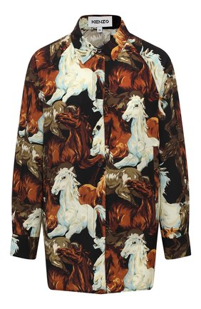 Женская шелковая блузка KENZO разноцветного цвета, арт. FA62CH028522 | Фото 1