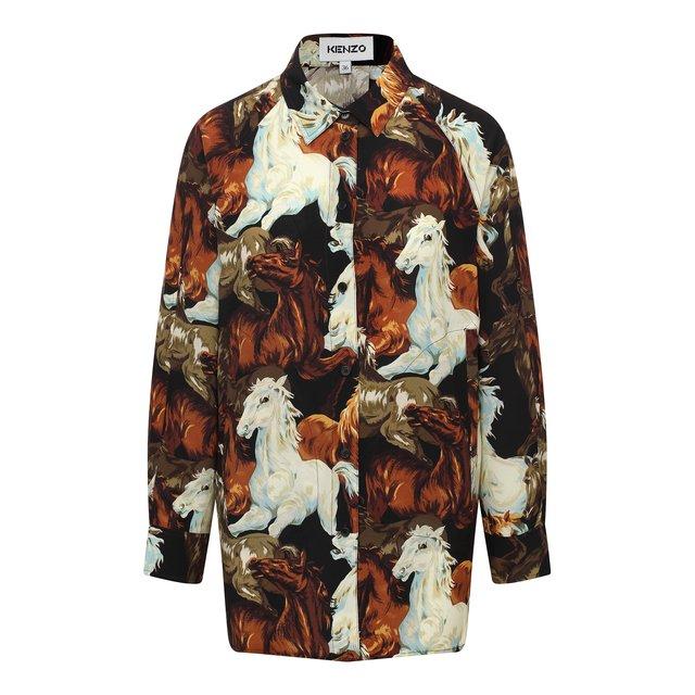 Шелковая рубашка Kenzo