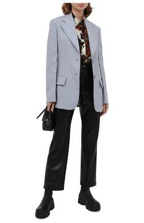 Женская шелковая блузка KENZO разноцветного цвета, арт. FA62CH028522 | Фото 2