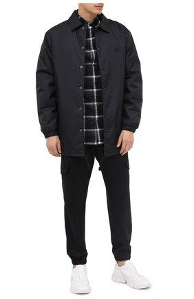 Мужская хлопковая рубашка DSQUARED2 темно-серого цвета, арт. S71DM0440/S53165 | Фото 2