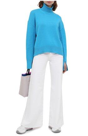 Женский свитер из шерсти и кашемира MRZ голубого цвета, арт. FW20-0050 | Фото 2