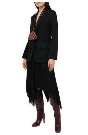 Женские кожаные сапоги JIL SANDER бордового цвета, арт. JS35053A-12003   Фото 2