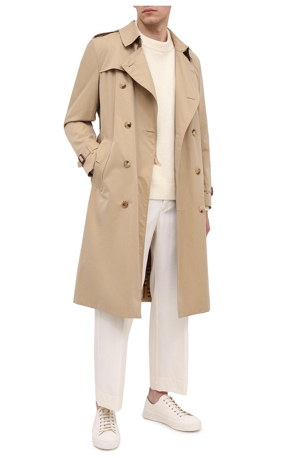 Мужские кожаные кеды JIL SANDER белого цвета, арт. JI35545C-12312 | Фото 2