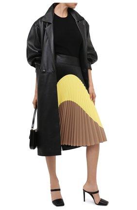 Женские кожаные мюли GIUSEPPE ZANOTTI DESIGN черного цвета, арт. I050003/004   Фото 2