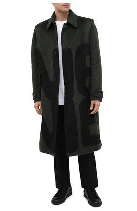 Мужские кожаные кеды backnet VALENTINO черного цвета, арт. UY0S0C04/MMK | Фото 2 (Подошва: Плоская; Материал внутренний: Текстиль, Натуральная кожа)