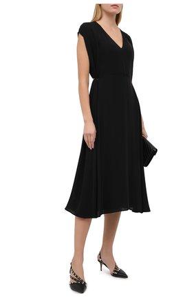 Женские кожаные туфли rockstud VALENTINO черного цвета, арт. UW0S0AM0/V0D | Фото 2