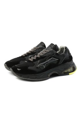 Мужские комбинированные кроссовки sharky PREMIATA черного цвета, арт. SHARKY/VAR068 | Фото 1