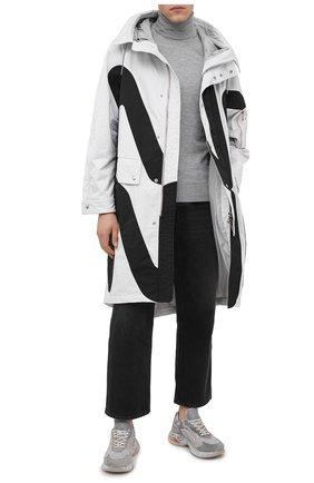 Мужские комбинированные кроссовки sharky PREMIATA серого цвета, арт. SHARKY/VAR067 | Фото 2