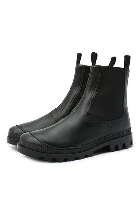 Женские кожаные челси LOEWE черного цвета, арт. L815S05X05 | Фото 1