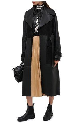 Женские кожаные челси LOEWE черного цвета, арт. L815S05X05 | Фото 2
