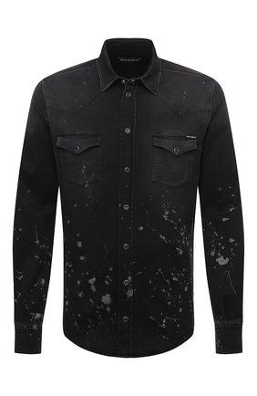 Мужская джинсовая рубашка DOLCE & GABBANA черного цвета, арт. G5EX7D/G8C05 | Фото 1