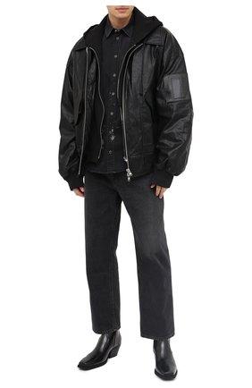 Мужская джинсовая рубашка DOLCE & GABBANA черного цвета, арт. G5EX7D/G8C05 | Фото 2