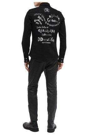 Мужская хлопковая рубашка DOLCE & GABBANA черного цвета, арт. G5EX7D/G8CY9 | Фото 2