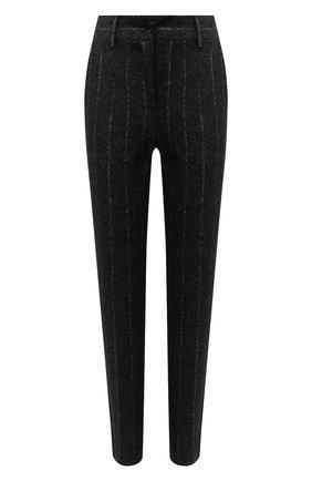 Женские брюки из шерсти и хлопка DOLCE & GABBANA серого цвета, арт. FTAMUT/FRMDV | Фото 1