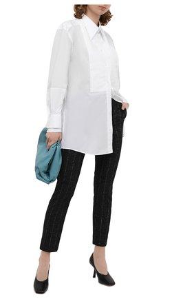 Женские брюки из шерсти и хлопка DOLCE & GABBANA серого цвета, арт. FTAMUT/FRMDV | Фото 2