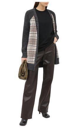Женский шерстяной кардиган KITON бежевого цвета, арт. D50737X04T97   Фото 2