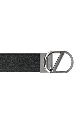 Мужской кожаный ремень Z ZEGNA темно-коричневого цвета, арт. B1GR1B/958A   Фото 3