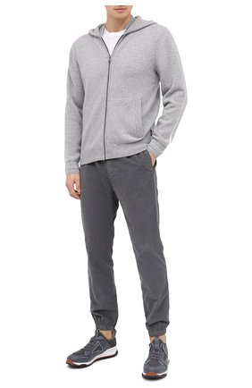 Мужская кашемировый кардиган Z ZEGNA серого цвета, арт. VVW10/ZZ178 | Фото 2