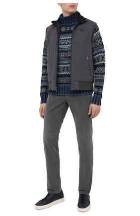 Мужской свитер из хлопка и льна RRL синего цвета, арт. 782799902 | Фото 2
