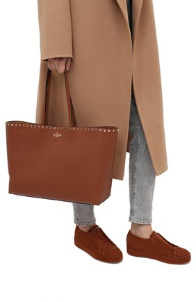Женский сумка valentino garavani rockstud VALENTINO коричневого цвета, арт. UW0B0B70/VSF | Фото 2