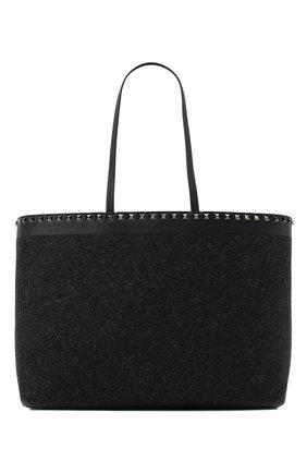 Женский сумка valentino garavani rockstud VALENTINO темно-серого цвета, арт. UW0B0B70/MDT | Фото 1