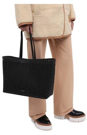 Женский сумка valentino garavani rockstud VALENTINO темно-серого цвета, арт. UW0B0B70/MDT | Фото 2