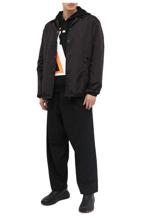 Мужской хлопковое худи VALENTINO черного цвета, арт. UV3MF14J6K5 | Фото 2