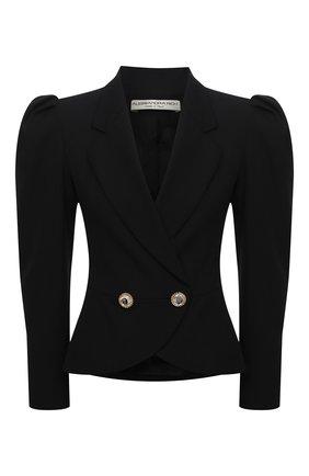Женский шерстяной жакет ALESSANDRA RICH черного цвета, арт. FAB2306-F2333 | Фото 1