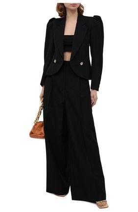 Женский шерстяной жакет ALESSANDRA RICH черного цвета, арт. FAB2306-F2333 | Фото 2