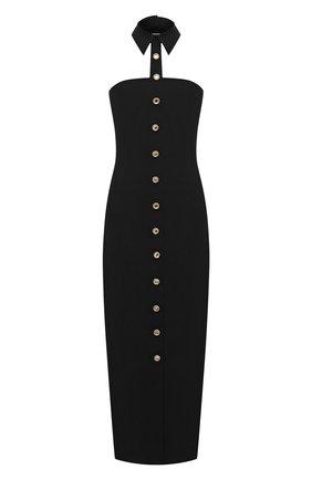 Женское шерстяное платье ALESSANDRA RICH черного цвета, арт. FAB2202-F2335 | Фото 1