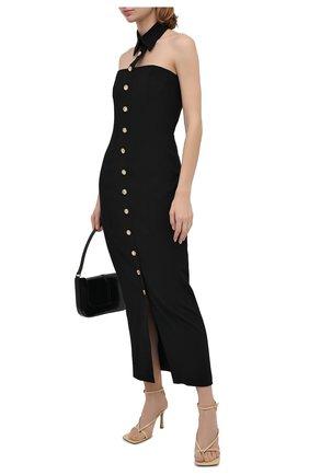 Женское шерстяное платье ALESSANDRA RICH черного цвета, арт. FAB2202-F2335 | Фото 2