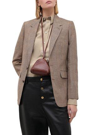 Женский клатч JIL SANDER коричневого цвета, арт. JSPR856439-WRB01016 | Фото 2