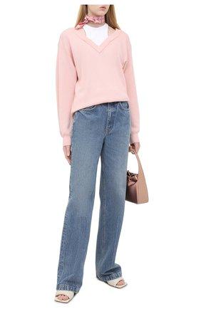 Женский шерстяной пуловер ALEXANDERWANG.T розового цвета, арт. 4KC1201038 | Фото 2