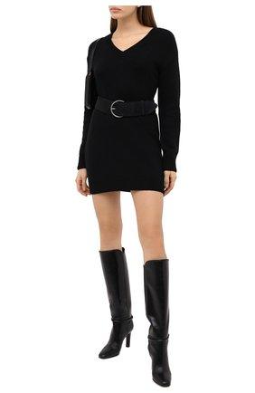Женское кашемировое платье SAINT LAURENT черного цвета, арт. 637299/YALJ2 | Фото 2