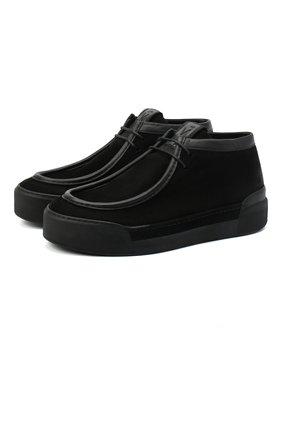 Мужские замшевые ботинки VIC MATIE черного цвета, арт. 1Y5506U.V02C7FB001 | Фото 1