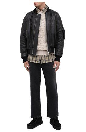 Мужские замшевые ботинки VIC MATIE черного цвета, арт. 1Y5506U.V02C7FB001 | Фото 2