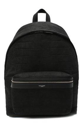 Мужской кожаный рюкзак city SAINT LAURENT черного цвета, арт. 534967/0TJ6F | Фото 1