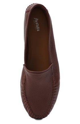 Мужского кожаные домашние туфли FARFALLA коричневого цвета, арт. P0RT | Фото 5 (Материал внутренний: Натуральная кожа; Мужское Кросс-КТ: Слиперы-обувь)