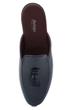 Мужского кожаные домашние туфли FARFALLA темно-синего цвета, арт. GT61N   Фото 5 (Материал внутренний: Натуральная кожа; Мужское Кросс-КТ: тапочки-обувь)