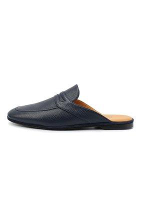 Мужского кожаные домашние туфли FARFALLA темно-синего цвета, арт. GT2   Фото 3 (Материал внутренний: Натуральная кожа; Мужское Кросс-КТ: тапочки-обувь)
