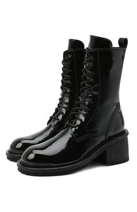 Женские кожаные ботинки ANN DEMEULEMEESTER черного цвета, арт. 2014-2828-389-099 | Фото 1